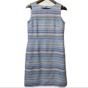 Talbots blue striped textured dress